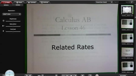 Thumbnail for entry Calc A Lesson 46