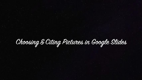 Thumbnail for entry How to Find Pictures Licensed for Reuse and Cite Them