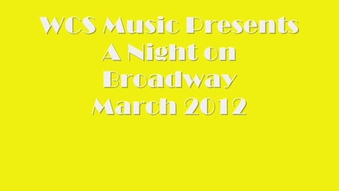 Thumbnail for entry A Night on Broadway
