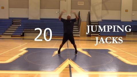 Thumbnail for entry 20 Jumping Jacks - Coach Harris