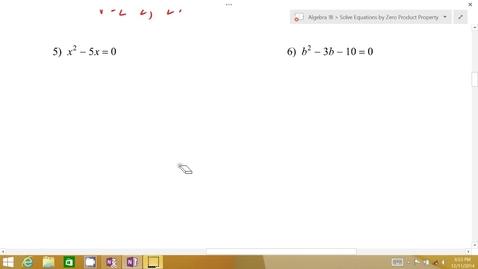 Thumbnail for entry Algebra 1B Lesson 07 #5-6