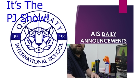 Thumbnail for entry QSI AIS Announcements April 12-16