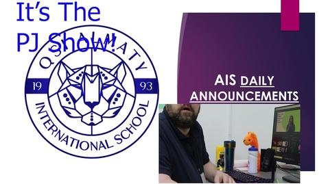 Thumbnail for entry QSI AIS Announcements April 12-16