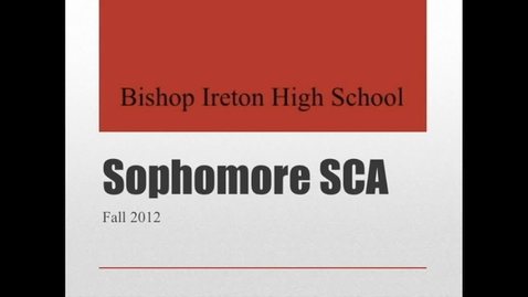 Thumbnail for entry Sophomore SCA Part II