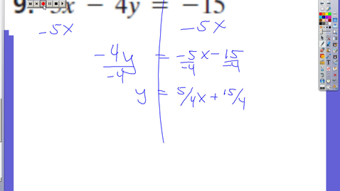 Thumbnail for entry Section 6-5 Forms of Linear Equations
