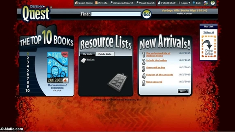 Thumbnail for entry Desitny Quest: Identify and Access Ebooks