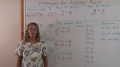 Thumbnail for entry Strategies for Addition Facts