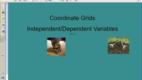 Thumbnail for entry Coordinate Grid & Ind. Dep. Variables