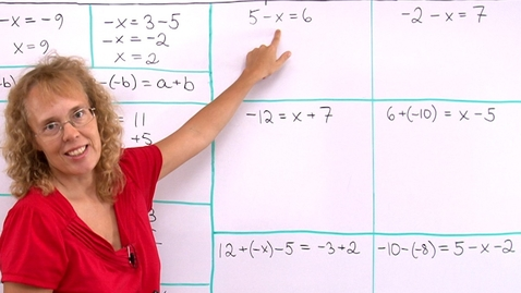 Thumbnail for entry Addition and Subtraction Equations (pre-algebra)