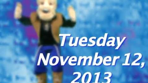 Thumbnail for entry Tuesday, November 12, 2013