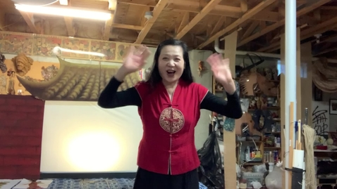 Thumbnail for entry 4thGr Chinese ShadowPuppet Theater T.HuaHua Lesson 1