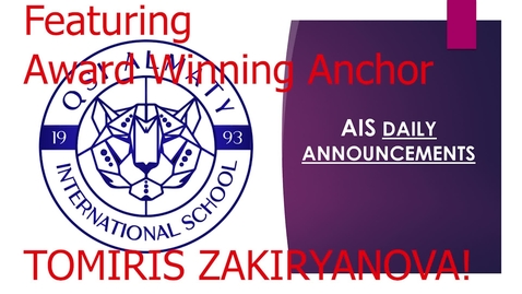 Thumbnail for entry QSI AIS Announcements April 19-23
