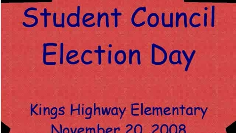 Thumbnail for entry Election Day 2008