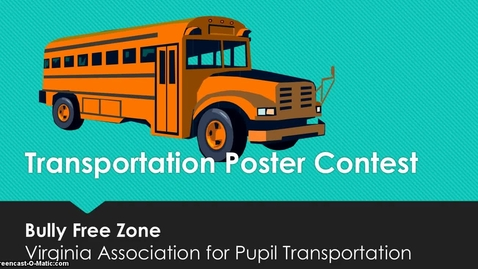 Thumbnail for entry Transportation Poster Contest