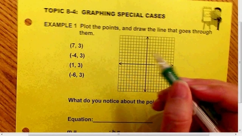 Thumbnail for entry 8.4 Graphing Special Cases