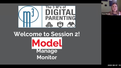 Thumbnail for entry Digital Parenting 3M's - Session 2 - What is the Why & Model