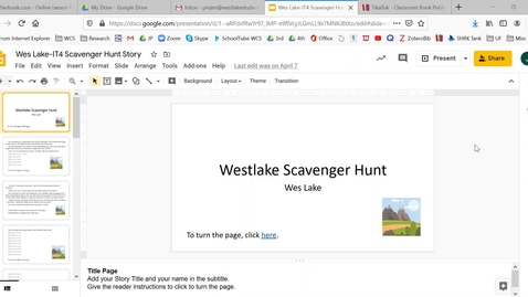 Thumbnail for entry IT4 - How to Publish Your Scavenger Hunt as a PDF