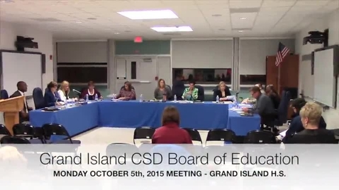 Thumbnail for entry Grand Island Board of Education Meeting 10-5-2015