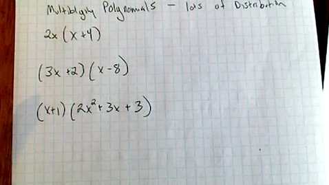 Thumbnail for entry Algebra 1 Multiplying Polynimials Notes 4.1.2020