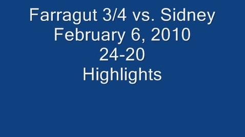 Thumbnail for entry Farragut 2/3/4 Grade Highlights vs. Sidney