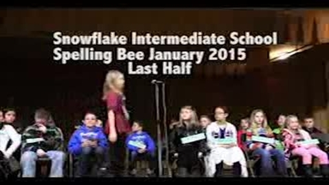 Thumbnail for entry Snowflake Intermediate Spelling Bee January 15, 2015