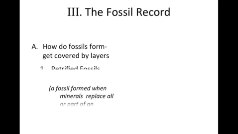 Thumbnail for entry Unit 7 Changes over Time, Section 3 Fossil Record