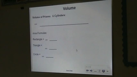 Thumbnail for entry PA Lesson 12-3 Volume of Cylinders