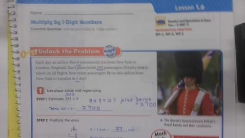 Thumbnail for entry Math 1.6 - Tuesday September 8 - 5th Grade