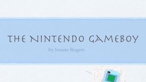 Thumbnail for entry the nintendo gameboy by Issano Rogers