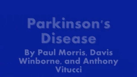 Thumbnail for entry Parkinson's Video