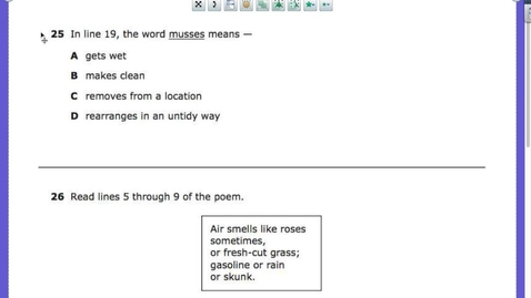 Thumbnail for entry Benchmark Poem QUESTIONS and ANSWERS