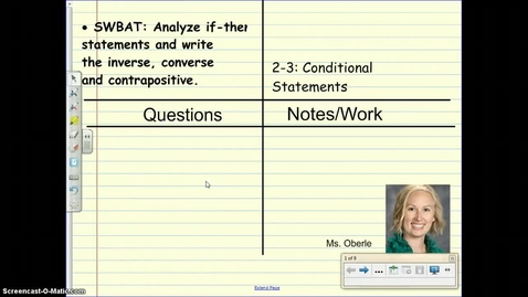 Thumbnail for entry Lesson 2-3 Conditional Statements