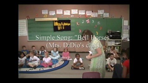 Thumbnail for entry Kindergarten Informance - Simple Song