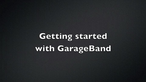 Thumbnail for entry Garage Band