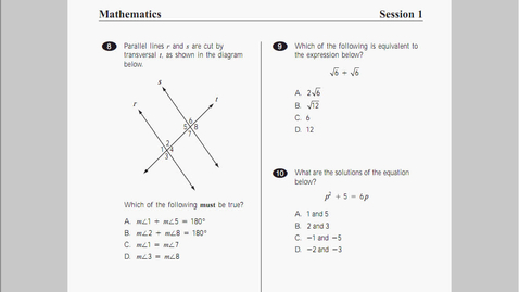 Thumbnail for entry MCAS Math 2010 Page 3