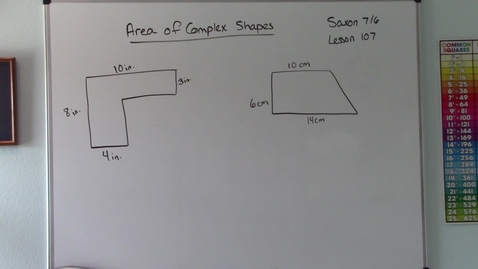 Thumbnail for entry Saxon 7/6 - Lesson 107 - Area of Complex Shapes