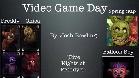 Thumbnail for entry Video Game Day