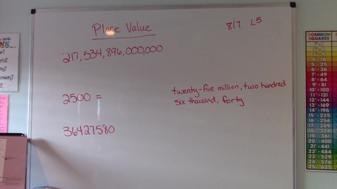 Thumbnail for entry Lesson 5 - Place Value
