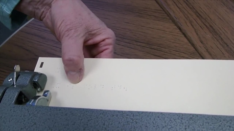 Thumbnail for entry The Background of Braille