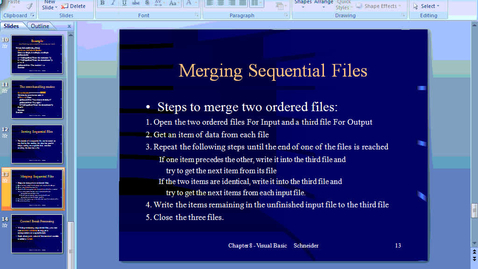Thumbnail for entry Merging Sequential Files