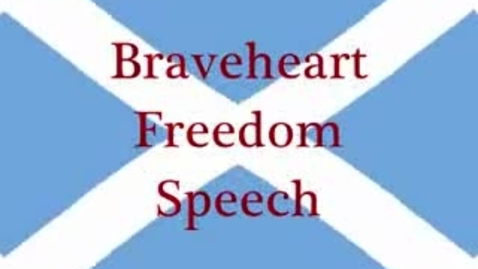 Thumbnail for entry Braveheart In Defiance Of The English Tyranny! BRAVO