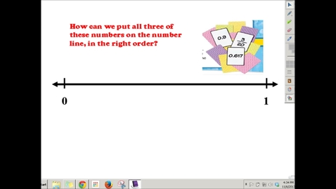 Thumbnail for entry Ordering Fractions and Decimals on a Number Line