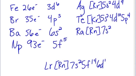 Thumbnail for entry Stephens Pre-AP Chemistry: (11-26-13) Patterns of the Periodic Table