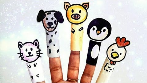 Thumbnail for entry Paper puppets: Finger puppets for children | Animal puppets