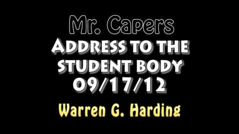 Thumbnail for entry Mr. Capers' Address to WGH - 09/17/12