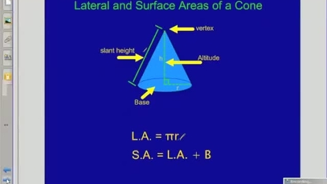 Thumbnail for entry Surface Area of Cones