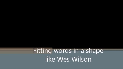 Thumbnail for entry wes wilson lettering