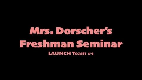 Thumbnail for entry Freshmen Seminar Kindness