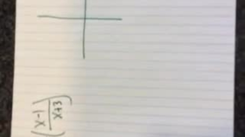 Thumbnail for entry Graphing Rational Function (1)