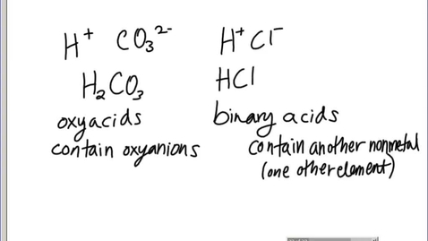 Thumbnail for entry Stephens Pre-AP Chemistry: Naming acids, covalent/acid practice, review for test assignment